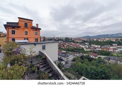 cityscape in the centre of Belluno. Italy. Europe