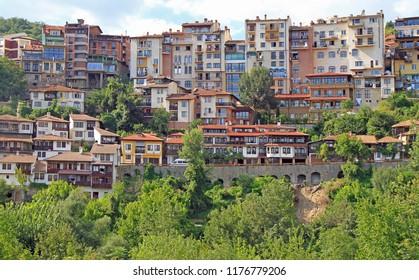 the cityscape of city Veliko Tarnovo in Bulgaria