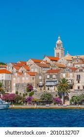 Cityscape of Croatian town Korcula