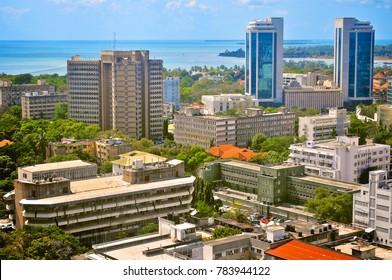 Cityscape of Dar es Salaam Tanzania