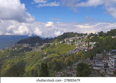 Cityscape of Darjeeling, West Bengal, India