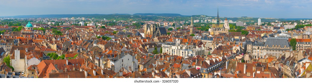 Cityscape of Dijon in a summer day