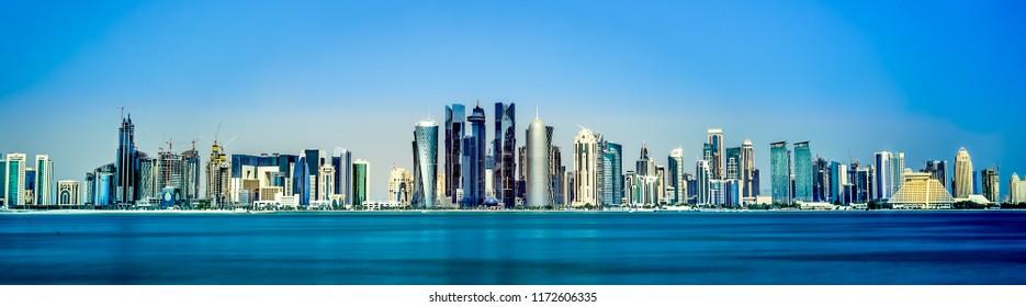 Cityscape Doha, the capital of Qatar. November 10/2017