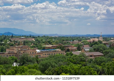 Cityscape of the downtown area of the City of Santa Fe New Mexico