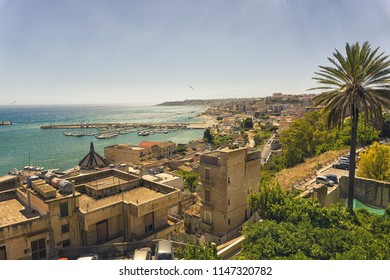 Cityscape during summer of Sciacca, Sicily, Italy.