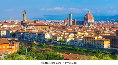 Cityscape of Florence, Italy. Italian Firenze city on summer day