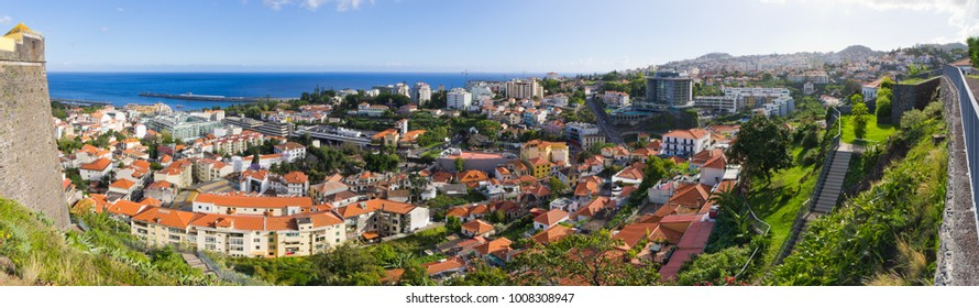 Cityscape of Funchal, capital city of Madeira island, Portugal