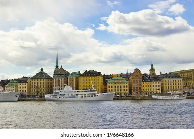 Cityscape of Gamla Stan Old Town in Stockholm, Sweden