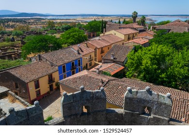 Cityscape of the Ghost Town of Granadilla (Cáceres, Extremadura, Spain)