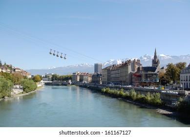 Cityscape of Grenoble, France