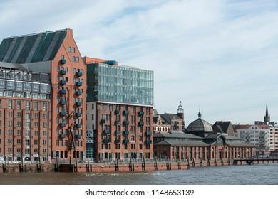 Cityscape of Hamburg St. Pauli, Germany