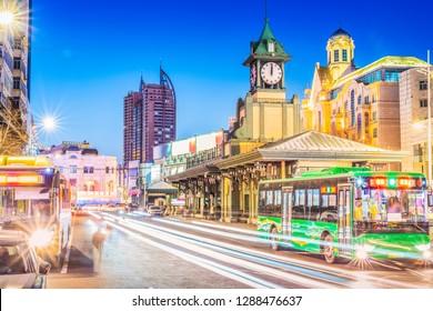 Cityscape of Harbin. Located near Central Avenue and Flood control monument, Harbin, Heilongjiang, China.