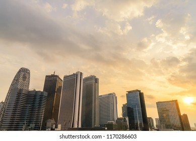 Cityscape - High-rise buildings on afternoon time in Tokyo, Japan.