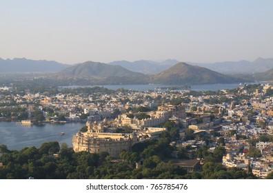 Cityscape of historical city Udaipur India