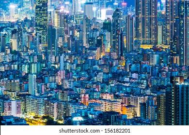 Cityscape in Hong Kong