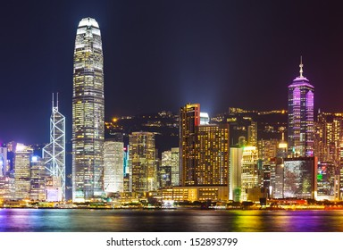 Cityscape of Hong Kong night
