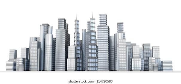 Cityscape illustration of large city