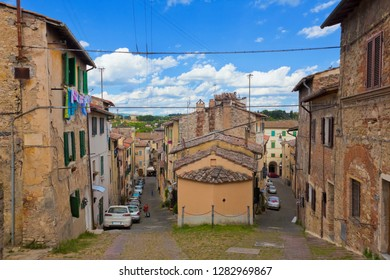 Cityscape from Italy by colle di val d elsa in Tuscany.