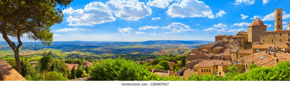 Cityscape from Italy by Volterra in Tuscany.
