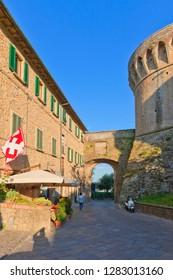 Cityscape from Italy by Volterra Tuscany.