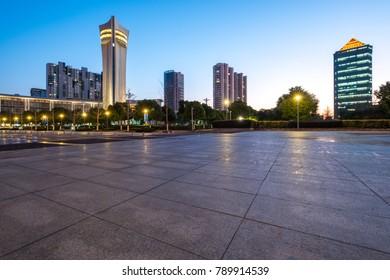 Cityscape of jiangyin city, wuxi city, jiangsu province, China.