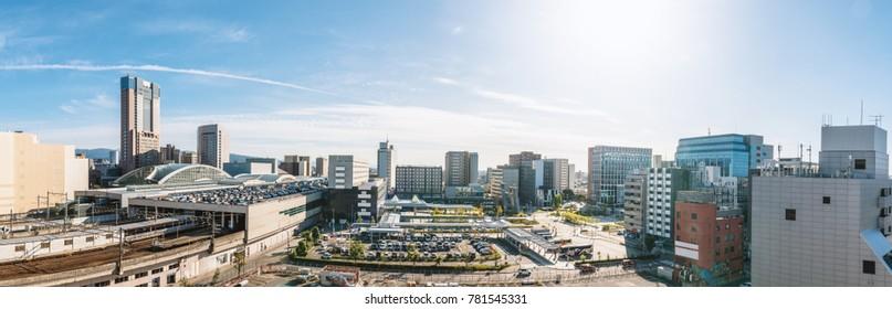 Cityscape of the Kanazawa city, Japan