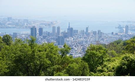 The cityscape of Kobe (Japan)