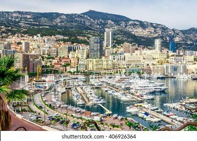 Cityscape of La Condamine, Monaco-Ville, Monaco. Principality of Monaco, French Riviera