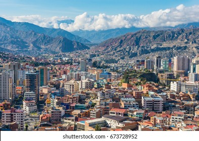 Cityscape of La Paz in Bolivia
