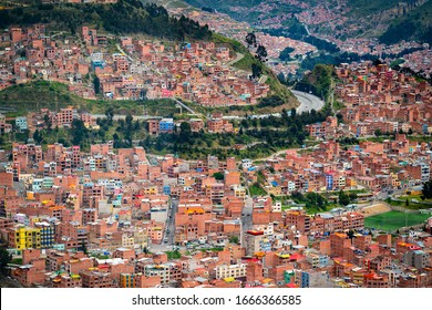 Cityscape of Lapaz which is the highest capital city in the world.