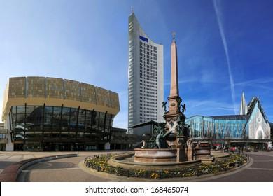 Cityscape of Leipzig