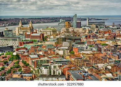 Cityscape of Liverpool (England), HDR-technique
