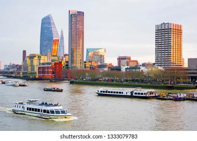 Cityscape of London, River Thames