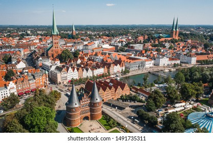 Cityscape of Lubeck, the city in the northern part of Germany