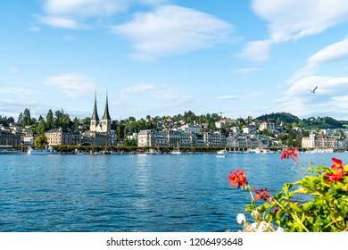 Cityscape of Lucerne (Luzern) in Switzerland