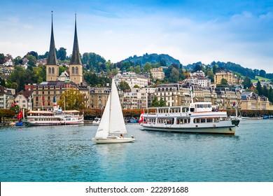 Cityscape of Lucerne, Switzerland