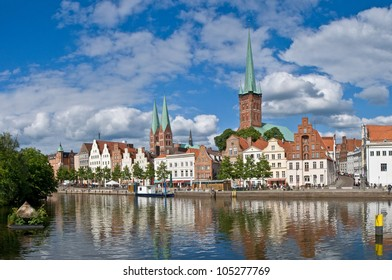 cityscape of luebeck
