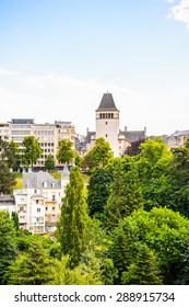 Cityscape of Luxembourg city, Luxembourg