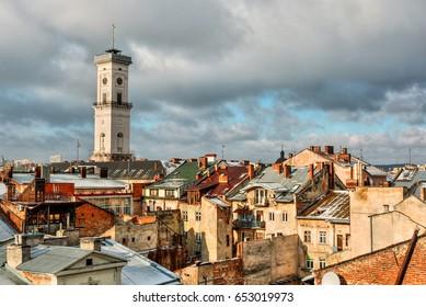 Cityscape of Lviv (Ukraine), HDR-technique