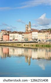 Cityscape of Macon, France