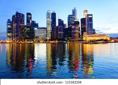 Cityscape at Marina Bay Business District - Singapore