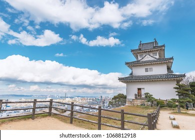 Cityscape of the Marugame city from the Marugame castle in Japan