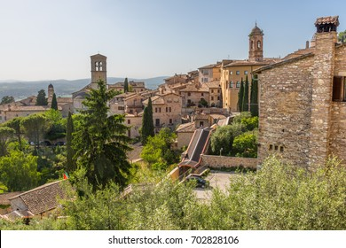 Cityscape of the medieval town of Assisi, Umbria