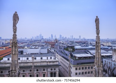 Cityscape of Milan in Italy