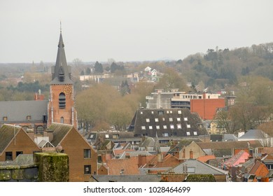The cityscape of Mons, Belgium