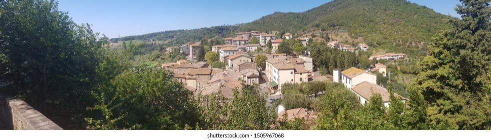 cityscape of Montecatini Val di Cecina in Tuscany