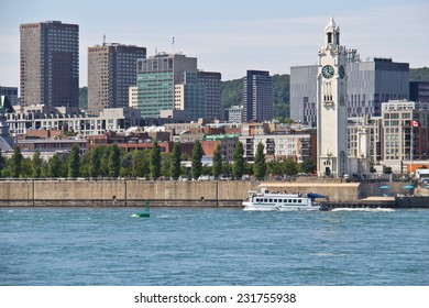 Cityscape of Montreal, Canada as seen from the St. Lawrence River
