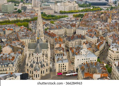 Cityscape of Nantes in a summer day