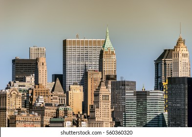 Cityscape of New York city.