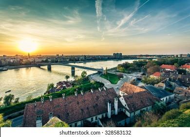 Cityscape from of Novi Sad. Horizontal image.